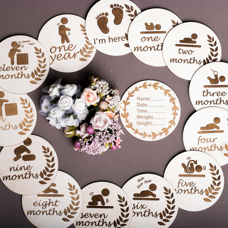 Baby Shower Gift Mile Stone Card Gift Baby Picture Cards Set Multi Colour