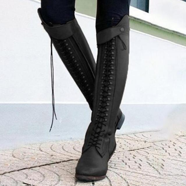 Womens Stylish Leather Equestrian Riding Boots  4