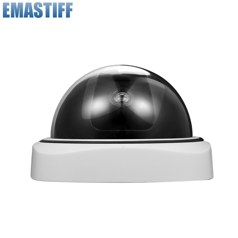 Indoor/Outdoor Dummy Smart Surveillance Camera Home Dome Waterproof Fake CCTV Security Camera With Flashing Red LED Lights