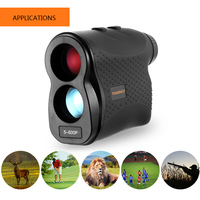 600P 6X25mm Laser Range Finder Hunting Golf Rangefinder Distance Speed Fog Mode Measurement for Outdoor Hunting Horse Racing