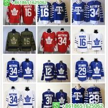 Мужские хоккейные трикотажные изделия Toronto Maple Auston Matthews Mitchell Marner