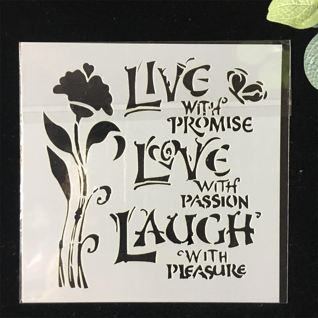 LIVE LAUGH LOVE #2 die cuts scrapbook cards