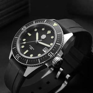 Image 3 - サンマーティン男性機械式腕時計サファイアガラス SEIKONH35 運動ステンレス鋼ダイビング腕時計