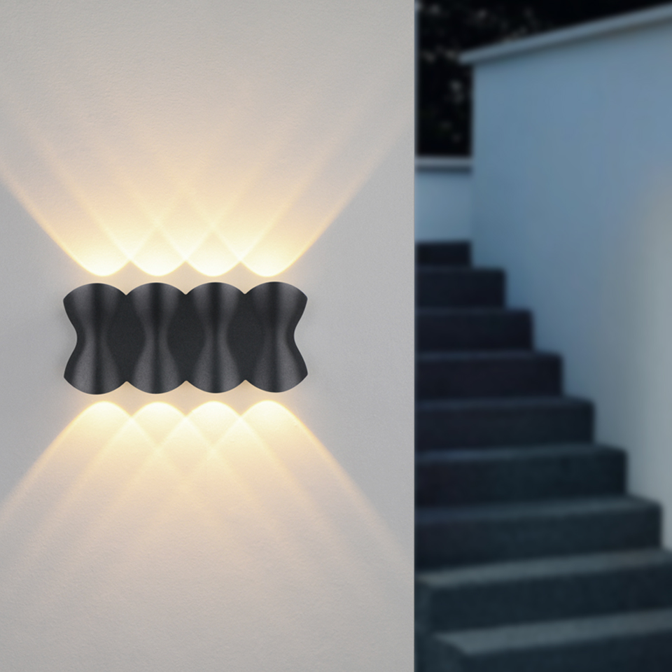IP65 LED Wall Lamp Outdoor Waterproof Garden Lighting 4W 6W 8W Aluminum AC86-265 Indoor Bedroom Living Room Stairs Wall Light