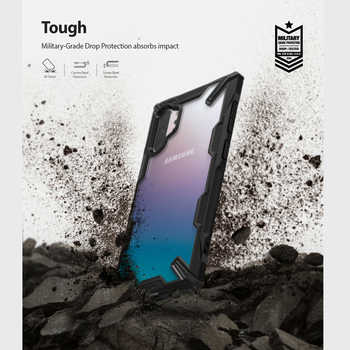 Ringke Fusion X for Galaxy Note 10 Plus Case Shock Absorption Transparent Hard PC Back Soft TPU for Galaxy Note 10+ 5G Cover