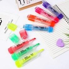 Couleur de parfum Mini surligneurs colorés marqueurs Pastel 7 couleurs stylos de mise au point de texte unique pour le bureau de l'école