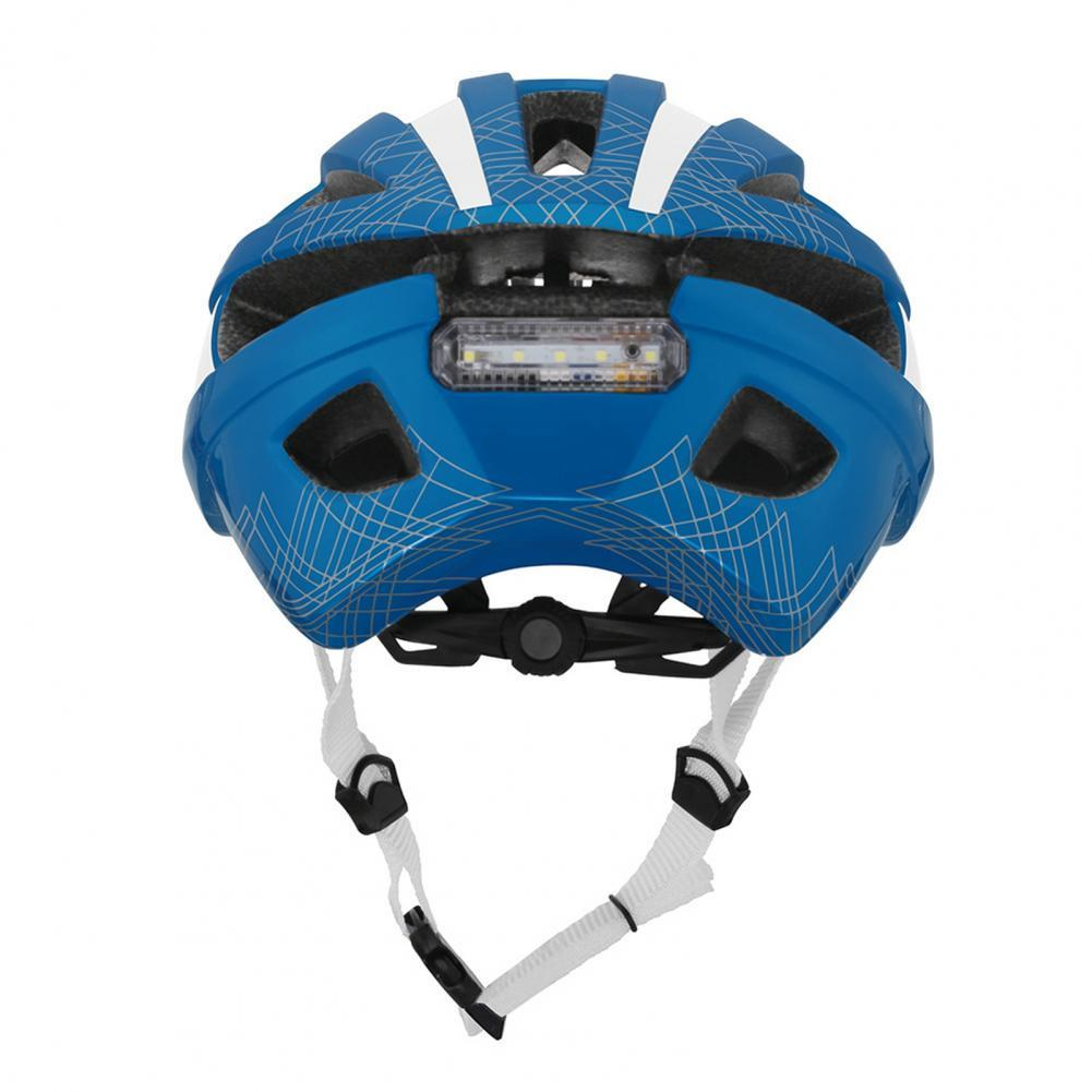 Riding Helmet Road Mountain Bicycle In-Mold USB Charge Racing Helmet with Warning Tail Light  (Included Tail Light)