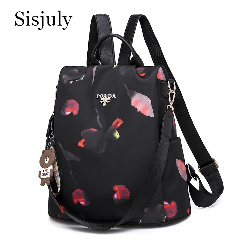 Sisjuly Multifunction Female Backpack Oxford Women's Bagpack Casua Anti Theft School Bags For Teenager Girls Sac A Dos Mochila