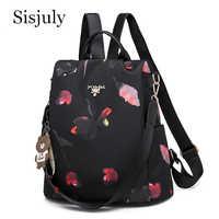 Sisjuly multifuncional feminino mochila oxford bagpack feminino anti roubo sacos de escola para adolescentes meninas sac a dos