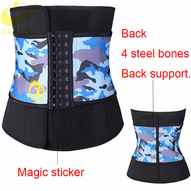 LAZAWG Waist Trimmer Waist Trainer for Weight Loss Sweat Belt Belly Fat Slimming Stomach Band Lumbar Support Neoprene Wrap Sets 2