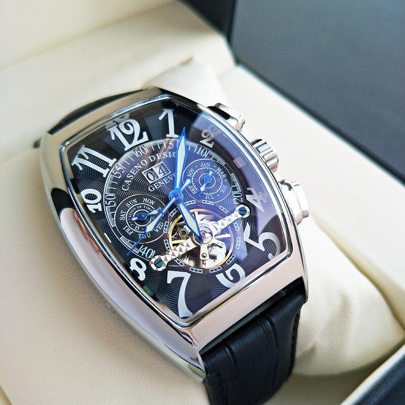 Frank miller Top marque de luxe montre pour hommes FM Tourbillon automatique et montre à quartz hommes étanche montre bracelet mécanique d