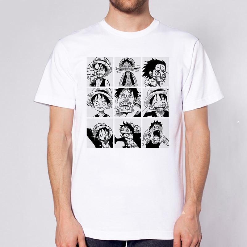 Lus Los One Piece T Shirt Japanese Anime Shirt Men T-shirt Luffy  T Shirts Clothing  Cartoon Printed Tshirt Short Sleeve Top Tee