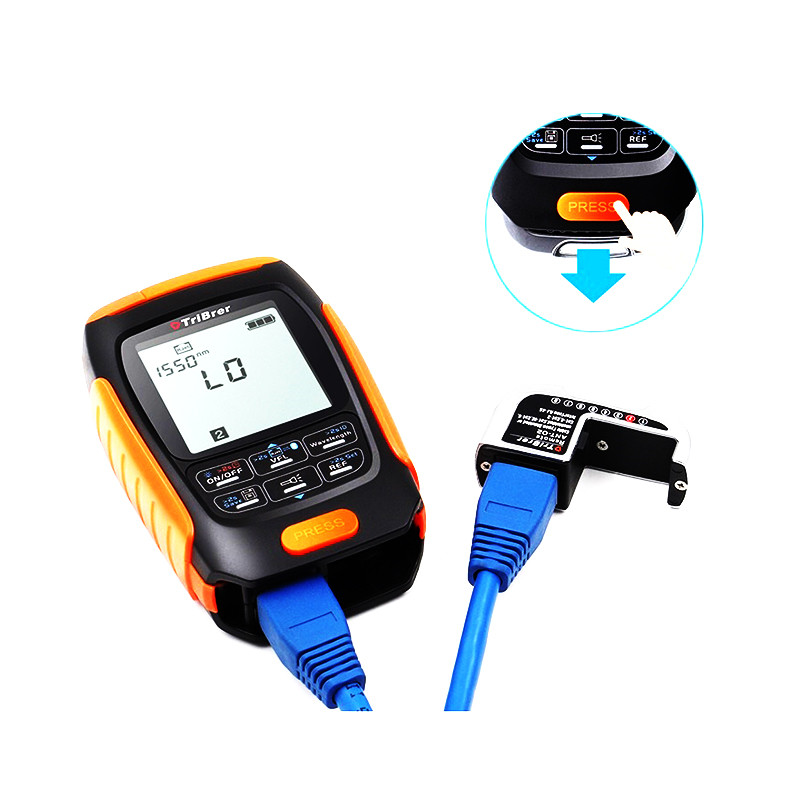 4 In 1 Mini Multifunction Optical Power Meternc Save Data Visual Fault Locator Network Cable Test VFL Optical Fiber Tester 30/km