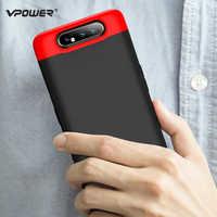 Para Samsung Galaxy A80 funda Vpower tres en uno 360 funda protectora completa de plástico para Samsung Galaxy fundas traseras para teléfono A80