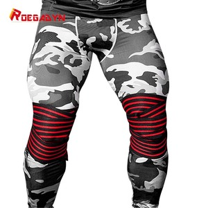 Image 1 - ROEGADYN Professional Weightlifting 2m Elastic Knee Wrap Fitness Knee Support Brace Heavy Weight  Squat Training Knee Brace