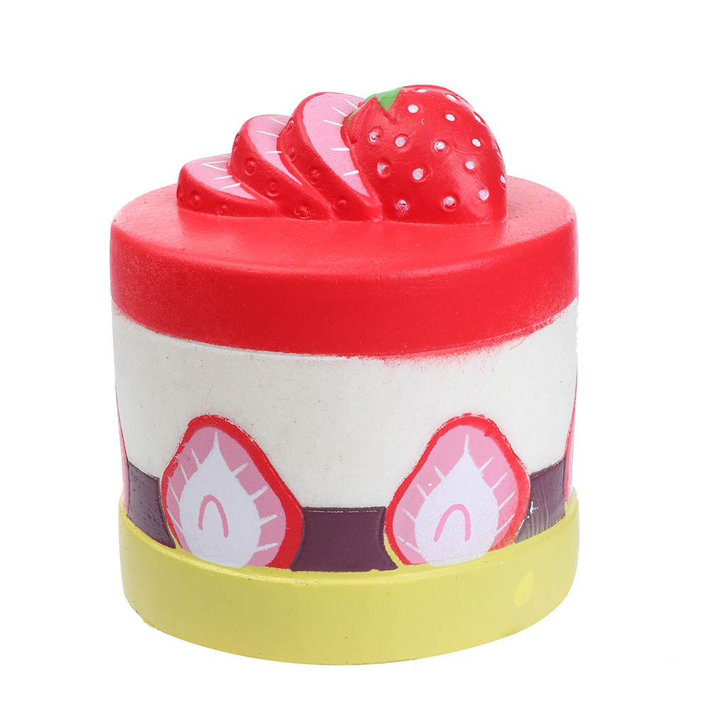 12cm Strawberry Cake Squishies Slow Rising Squeeze Scented Stress Relieve Toy Soft Slow Rebound Toy PU Stress Relief Kids Toy