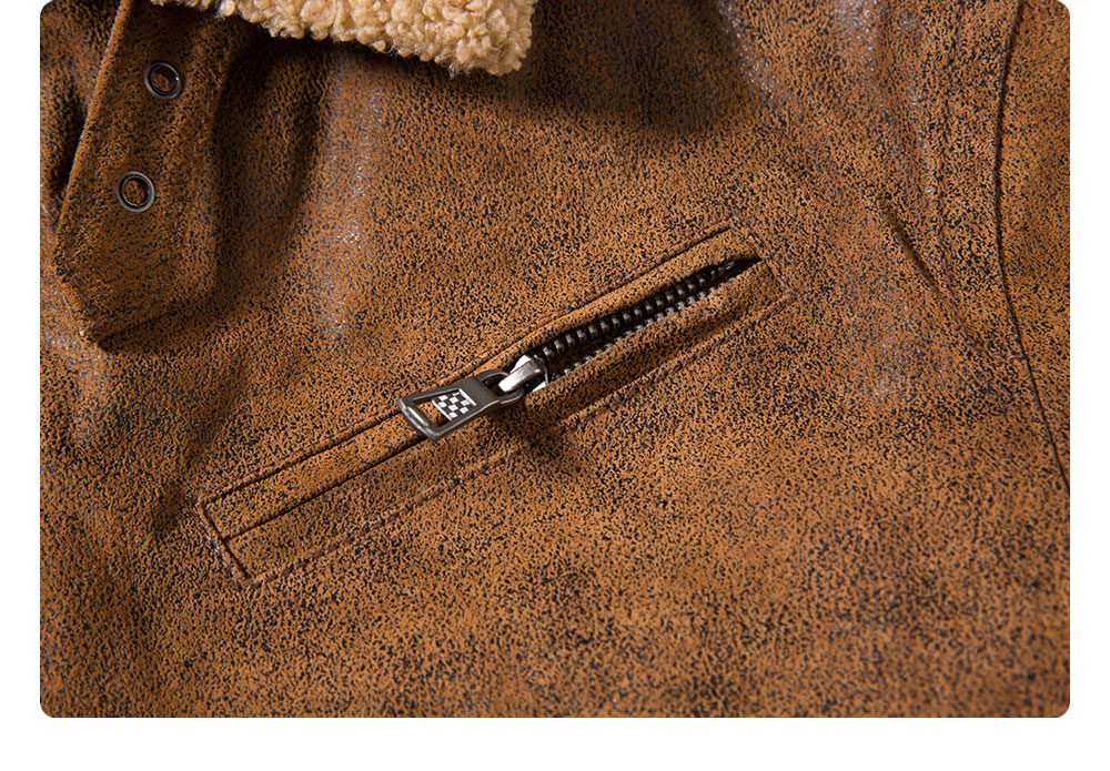 H1d42daa2bfa942379b6b90ab9811afadI FLAVOR New Men's Genuine Leather Motorcycle Jacket Pigskin with Faux Shearling Real Leather Jacket Bomber Coat Men