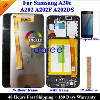 Ekran LCD do Samsung A20e LCD A202 wyświetlacz lcd do Samsung A202 A202F A202DS ekran dotykowy Digitizer zgromadzenia tanie i dobre opinie ATELKOM NONE CN (pochodzenie) Ekran pojemnościowy 1280x720 3 AMOLED For SAM A20e A202 LCD i ekran dotykowy Digitizer