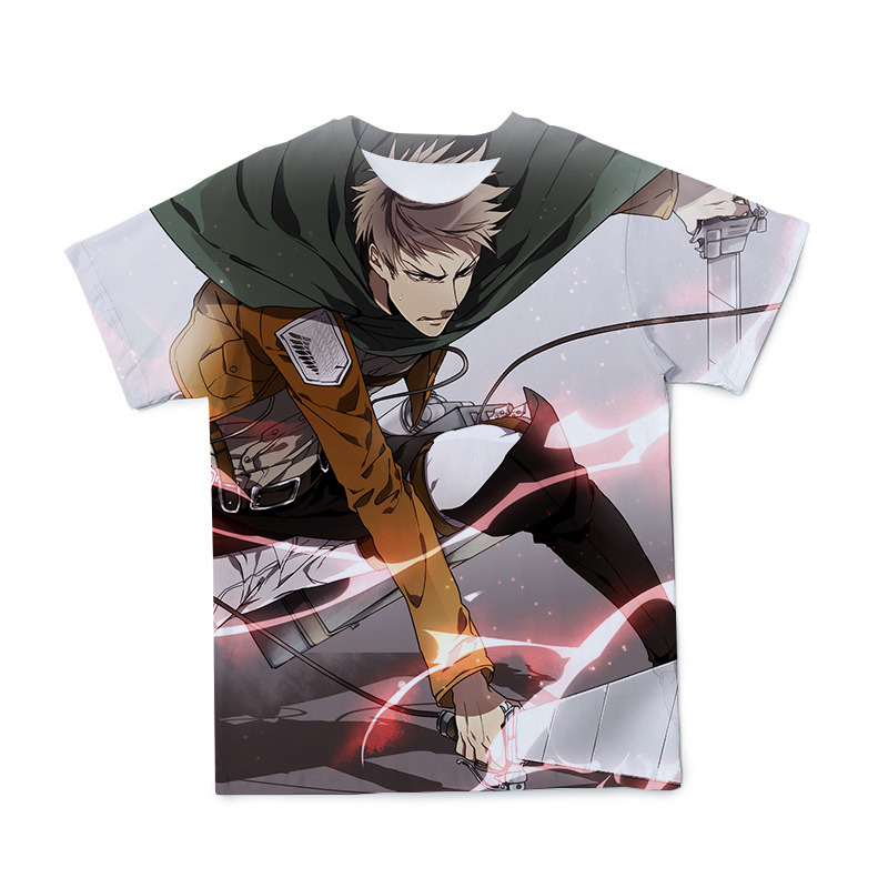 2021 New 3D Men's T-shirt Japanese Animation Giant Clothing Fashion Casual Short-Sleeved O-neck Large Size 110-6XL(Customizable)