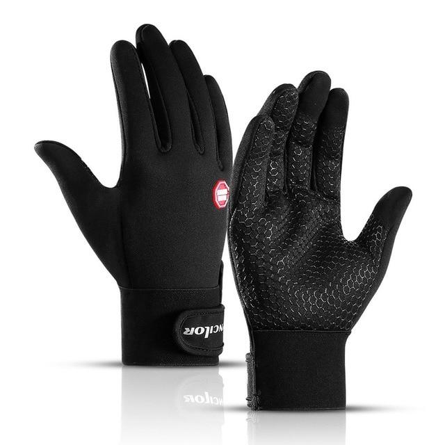 Outono inverno das mulheres dos homens luvas de ciclismo dedo cheio tela sensível ao toque ao ar livre esportes luvas de bicicleta com logotipo reflexivo 1