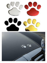 Car Sticker Cool Design Paw 3D Animal Dog Cat Bear Foot Prints Footprint Decal Car Stickers Silver Gold Red Car Accessories(China)