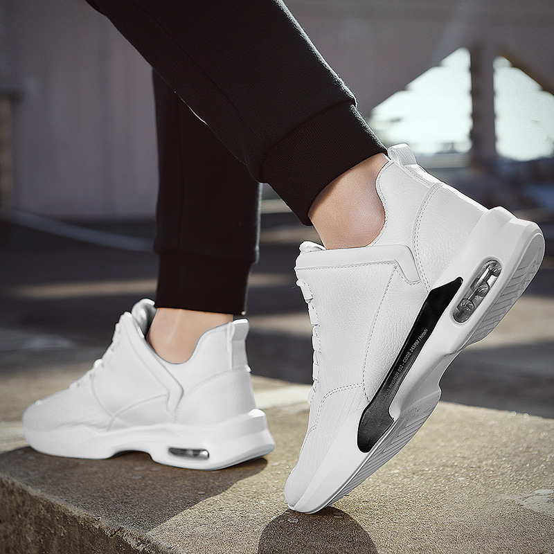 MEN'S Shoes Autumn & Winter Trendy Shoes 2018 New Style Versatile Casual Shoes Small White Shoes Sports White Shoes plus Velvet