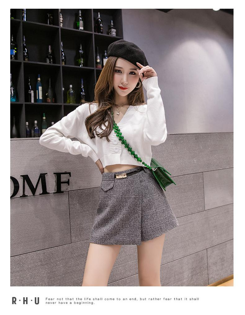 H1d43376541994cce944d35bf0d6e02b0p - Irregular Woolen Plaid Shorts Skirts For Women Atumn Winter Office Short Women Plus Size Booty Shorts Feminino