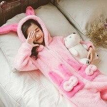 Осенне-зимняя детская пижама для животных с рисунком кролика кигуруми, цельный костюм для косплея, фланелевые костюмы для сна