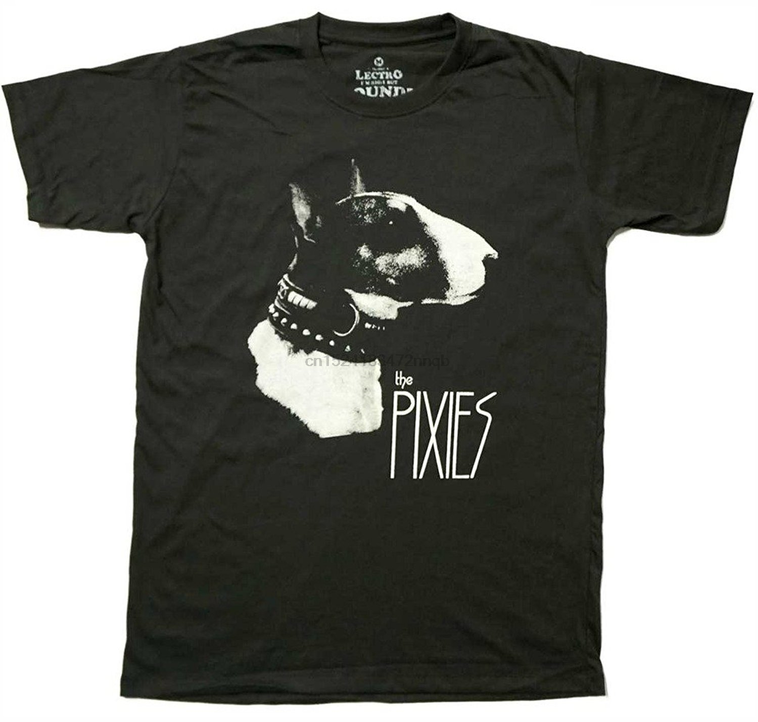 Lectro Men& The Pixies American Rock Band T-Shirt Short Sleeve T Shirt Funny Print Top Tee Black Style Plus Size Chinese Style