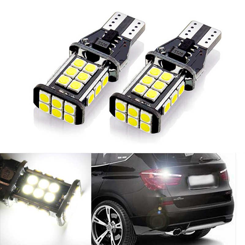 2x T15 LED إسفين لمبة W16W Led ضوء المصباح في Canbus السيارات احتياطية عكس مصابيح لسيارة BMW E39 E60 E90 E46