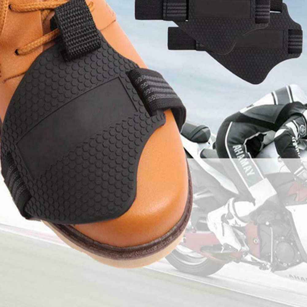 Motorcycle Motorbike Gear Shift Pad Cover,Black Non-Slip Silicone Shoe Boot Protector Protective Boot Accessories