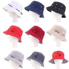 Открытый пляж лето солнца шляпа складной ведро шляпа сплошной цвет хип-хоп Cap женщины отпуск черных мужчин рыбалка рыбаки шляпы