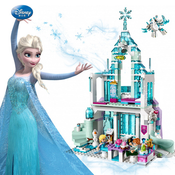 2020 Friends Series Elsa Anna Figures Dress Up Building  Compatible Lepining Girl Friends Princess Castle Toys building blocks 983pcs harri castle hall hogwartse express building blocks educational toys compatible with lepining friends city