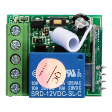 цена на 10A 433MHZ 1 Channel Receiver Wireless Relay RF Remote Control Switch Module DC12V Relay Switch Receiver Module