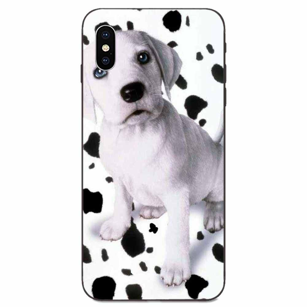 TPU Dùng Cho Apple iPhone 11 X XS Max XR Pro Max 4 4s 5 5s SE 6 6S 7 8 Plus Kawaii Chó Đốm Chó Con Chó