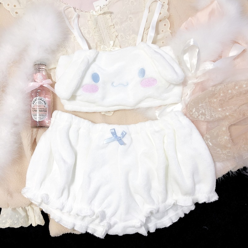 H1d43aea9f3664c4ca663a4181bd81a4eN Cinnamoroll My Melody Clothes Sexy Cute Lovely Bunny Girl White Pink Anime Cospaly Kawaii Christmas Lingerie Outfits for Women