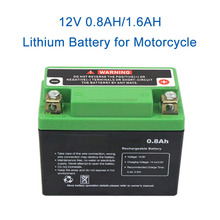 12V 0.8/1.6Ah Lifepo4 Motorcycle Jump Starter Lithium Ion Battery High Quality Gasoline Engine Battery with Voltage Protection