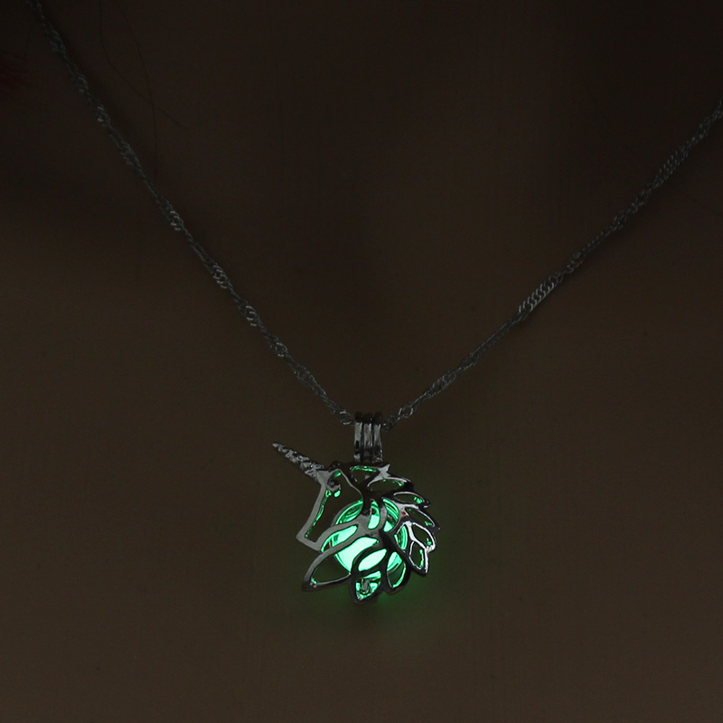 H1d43f2f6824544a7b6cfb1a410d8c172j - 3 Colors Glowing In The Dark Lotus Flower Shaped Pendant Necklace Charm Chain Delicacy Necklace Luminous Party Jewelry Women