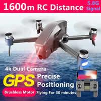 Profissional Drone GPS Smart Follow potrójny system pozycjonowania quadrocopter z kamerą 4k bezszczotkowy 5.8G sygnał Dron helikopter