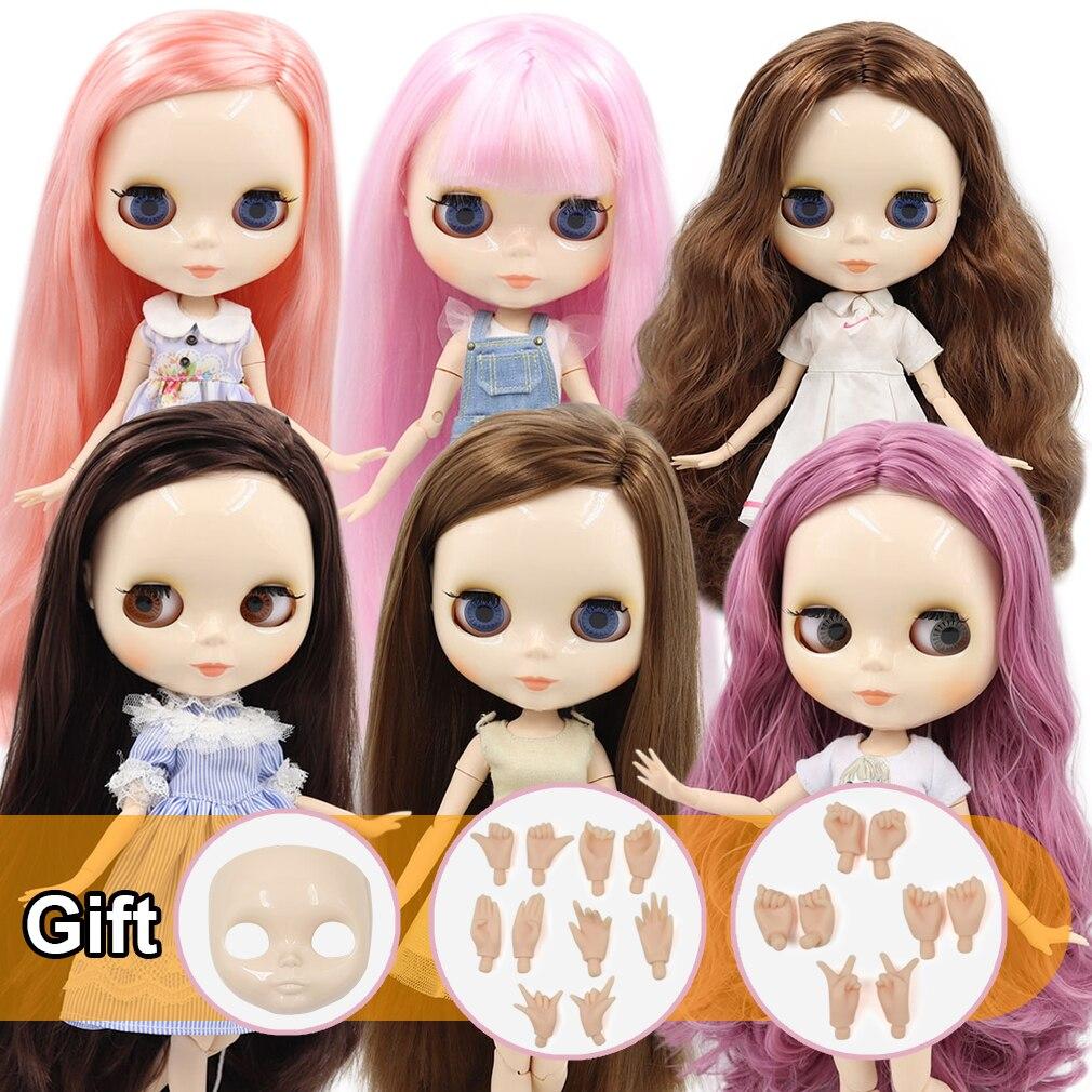 Кукла Blyth ICY DBS 1/6 с обнаженным шарнирным телом и белой кожей, глянцевое лицо, подарок для девочки, игрушка