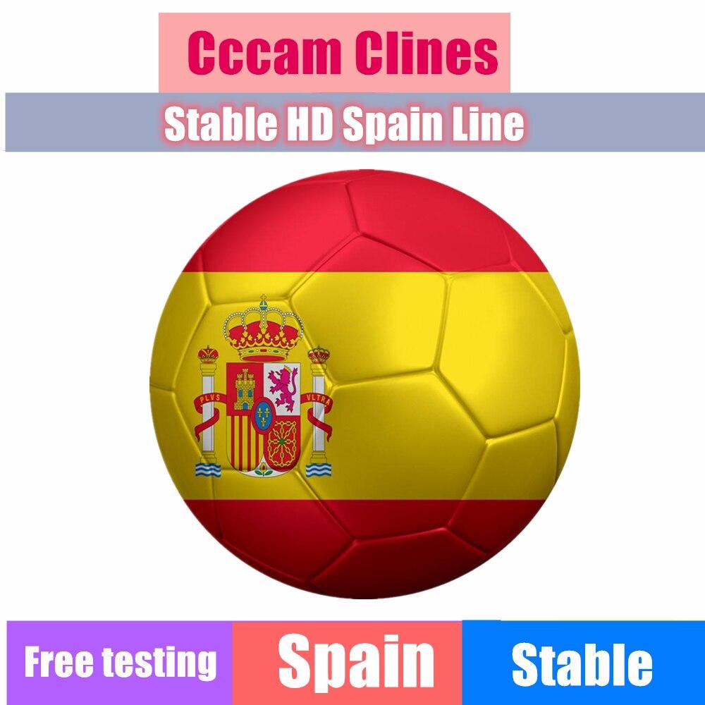 Spanje Nieuwste meest stabiele cccams voor Europa spanje Satelliet tv Ontvanger 7 lijnen IPTV WIFI FULL HD DVB-S2 Ondersteuning Ccams v7 V8 NOVA