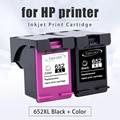 Topcolor 652XL เปลี่ยนตลับหมึกสำหรับ HP 652 XL สำหรับเครื่องพิมพ์ HP Deskjet 1115 1118 2135 2136 2138 4538 4675 4676 5085 5275