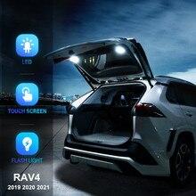 עבור טויוטה RAV4 RAV 4 2019 2020 2021 LED רכב זנב אור תא מטען אור מנורת פנים מזוודה קריאת אור אביזרים