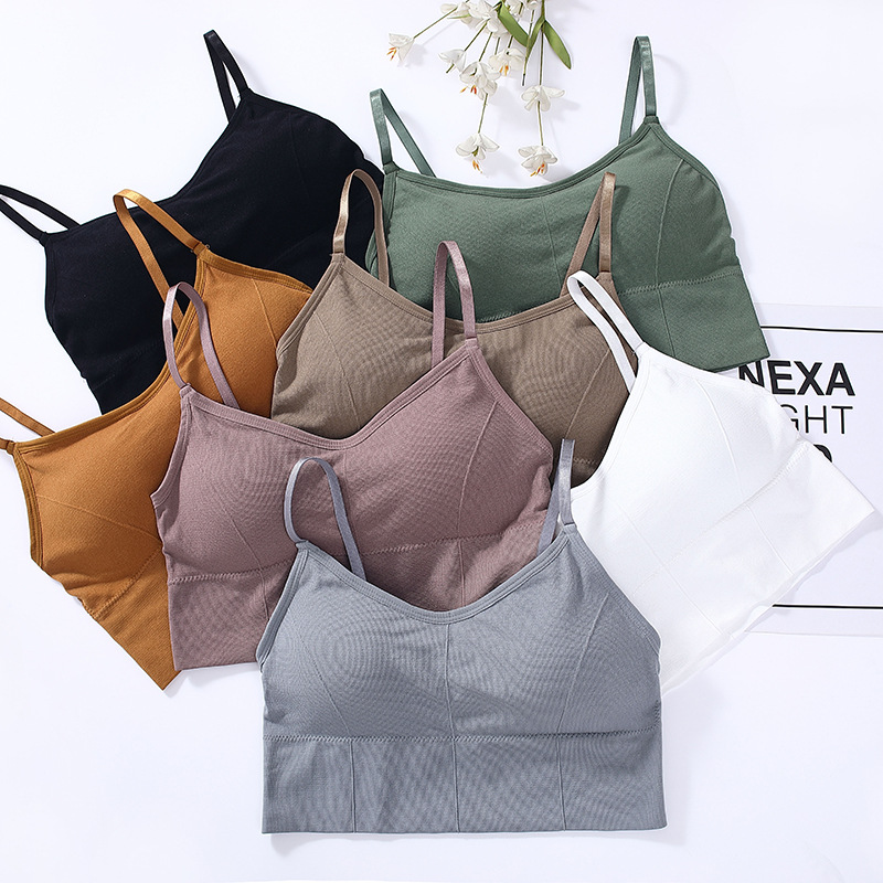 Women Tank Crop Top Plus Size Underwear Female Crop Tops Sexy Lingerie With Removable Padded Camisole Femme
