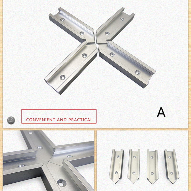 200mm Cross T-track Connector Set 30 Type T-slot Miter Track Jig Fixture Slot Connector OCT998