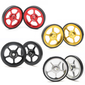 Image 1 - TAIWAN ACRZ 7075 alloy 1pair Super Lightweight Easywheel For Brompton black/silver/gold