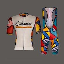 Chaise pro equipe conjunto camisa dos homens roupas de ciclismo manga curta kit corrida equitação uniforme verão estrada bicicleta ropa hombre