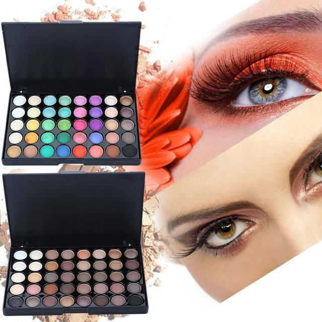 40 Color Eyeshadow Pallete Warm Color Smoky Makeup Palette Matte Multicolor Eyeshadow Palette Lasting Professional 1pc 5