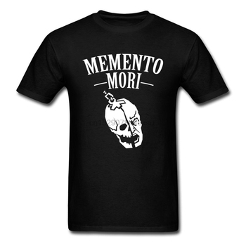Memento Mori Schedel T-shirt Mannen Religie En Death Zomer T-shirt Katoenen Kleding Vreemde Tshirt Stijl Tops Tees Punisher