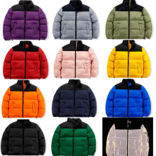 Winter America Brand Face Parkas Mixed Colors Couple Cotton Coats Casual Men's Stand Collar Pocket Warm Down Puffer Jackets
